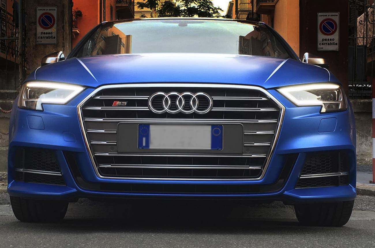 Audi s3 car wrapping frontale