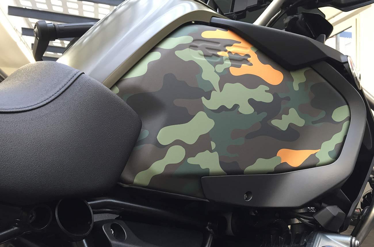 Bmw gs r1200 car wrapping dettaglio serbatorio