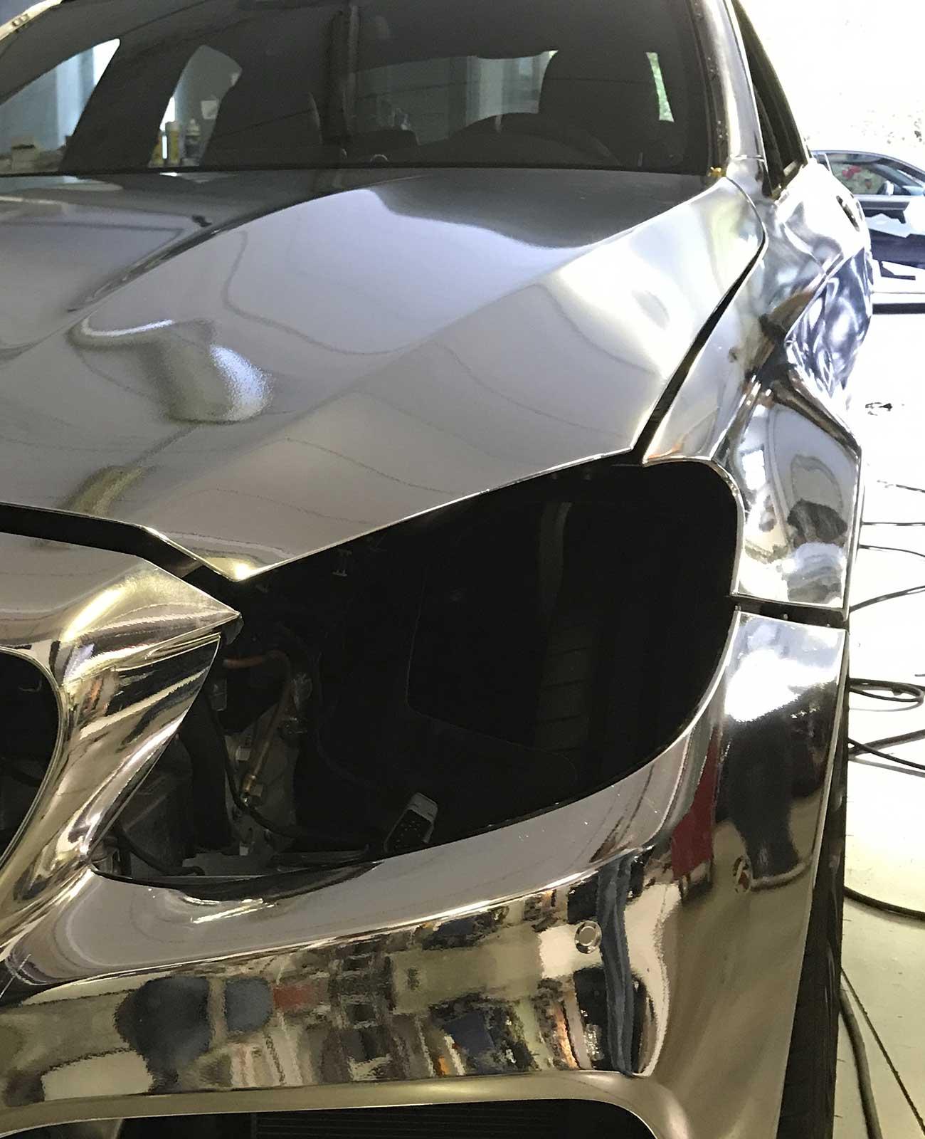 mercedes cromata car wrapping dettaglio
