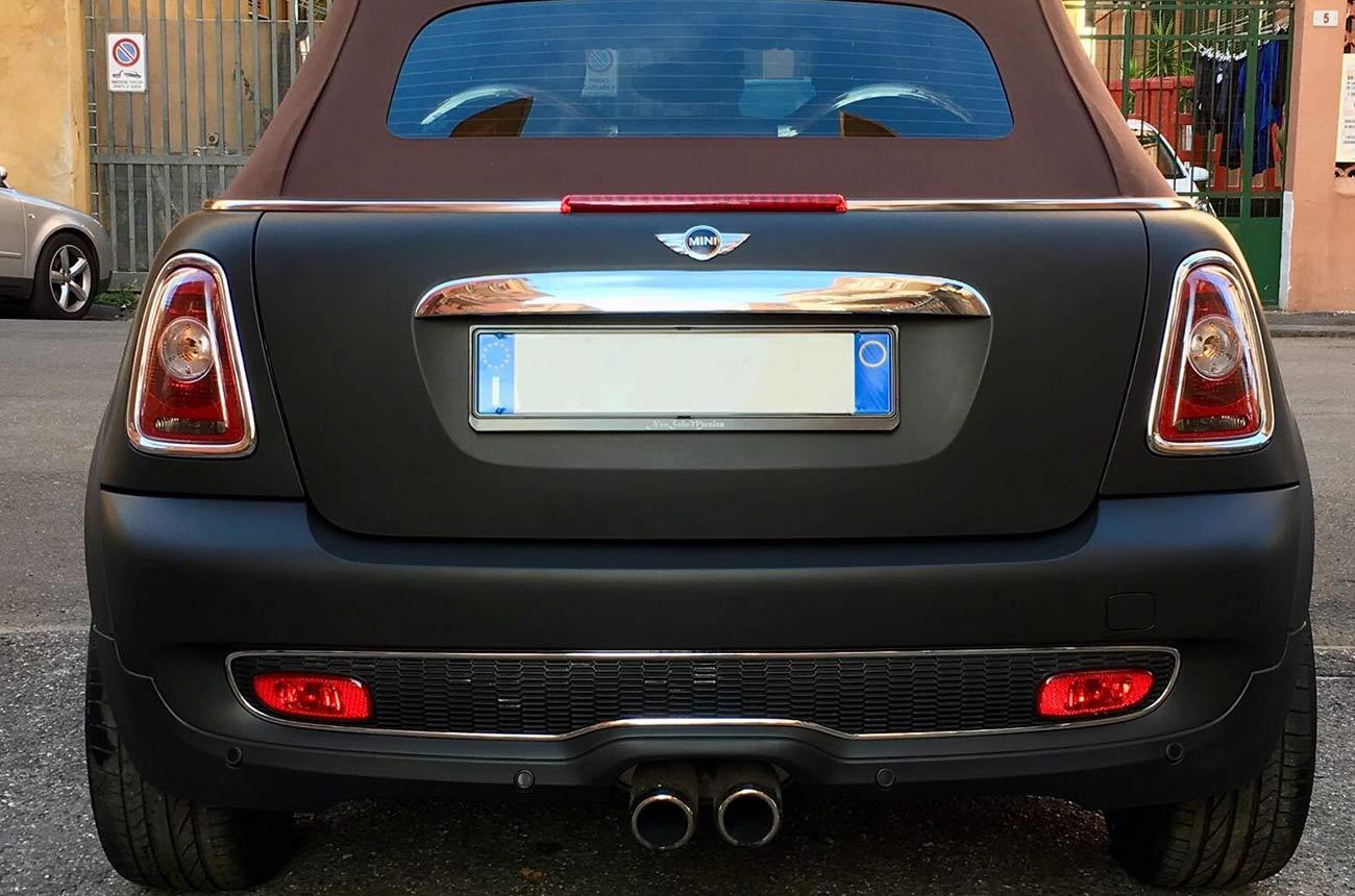 mini car wrapping nera retro