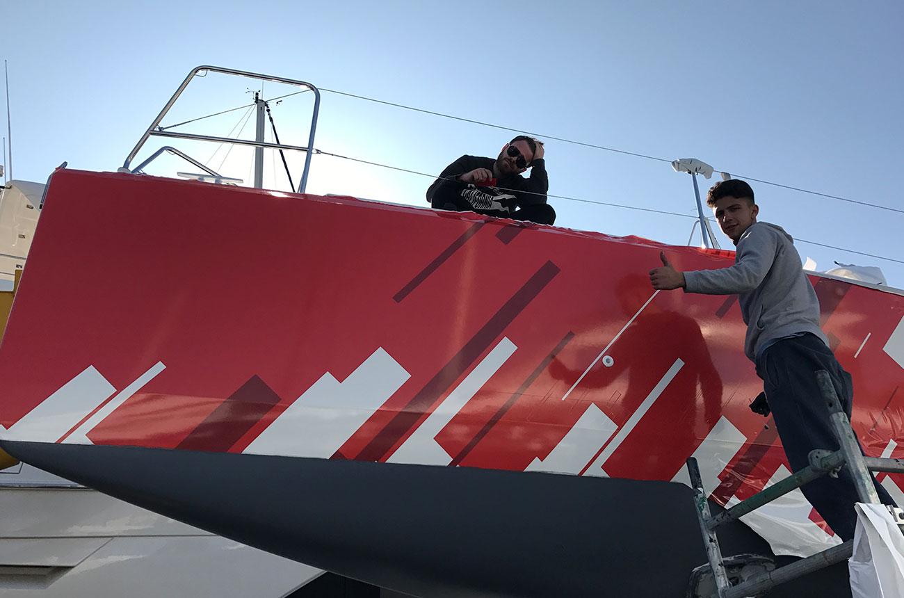 boat-wrapping-sun-fast-3600-applicazione