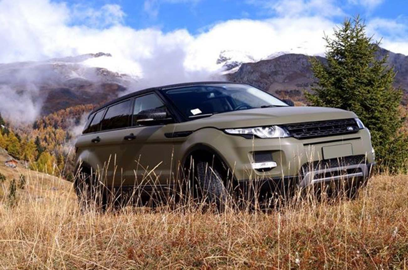 car wrapping range rover fronte