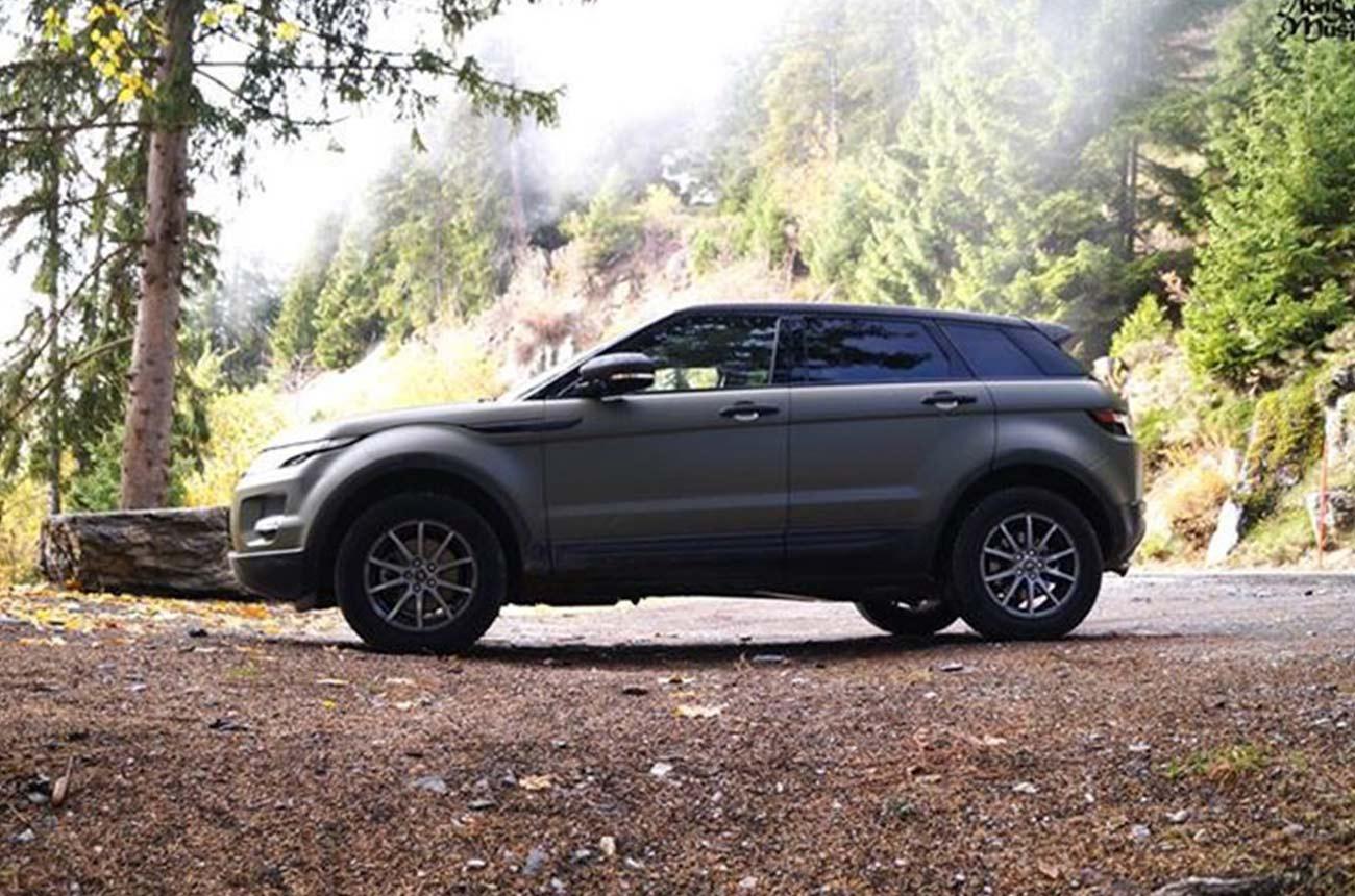 car wrapping range rover lato