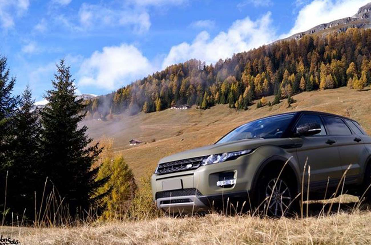 car wrapping range rover montagna
