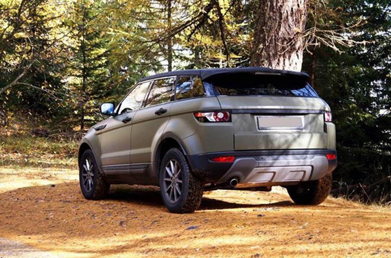 car wrapping range rover retro
